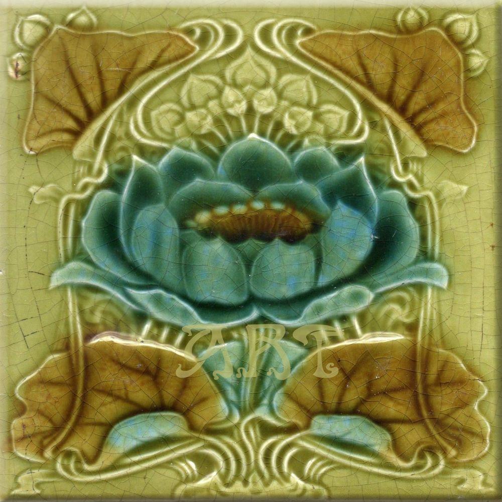 Art nouveau ceramic decorative wall tile 6 x 6 inches 102 art nouveau ceramic decorative wall tile 6 x 6 inches 102 dailygadgetfo Gallery