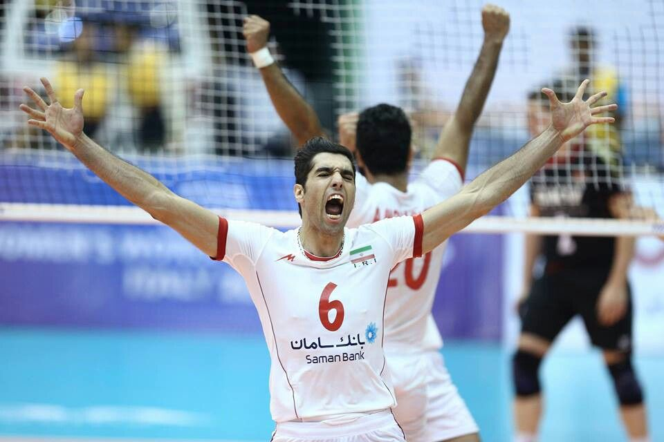 After Victory Seyed Mohamad Musavi Iranian Volleyball National Team Player Volleyball Team Player Football