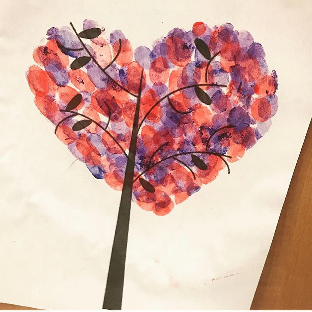Check Out This Fun Valentine S Fingerprint Tree What A