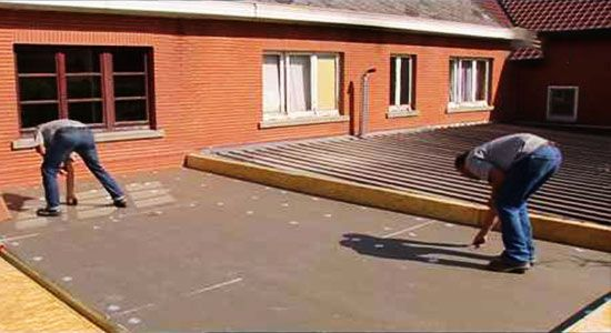 Waterproofing a Flat Roof with Firestone EPDM Rubber Roof ...