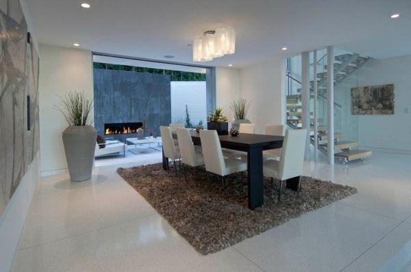 Gestaltung Ideen Minimalistisch Modern Weiß Esszimmer Home Tream