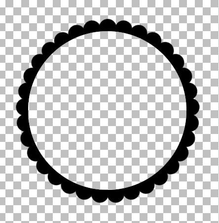 Showing Scalloped Edge Frame Circle Borders Frame Scalloped Edge