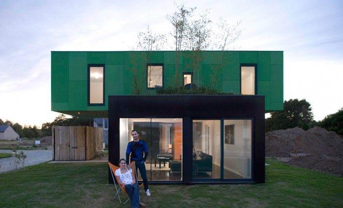 La Crossbox de CG Architectes  maison conteneur Cabin, Industrial - avantage inconvenient maison ossature metallique