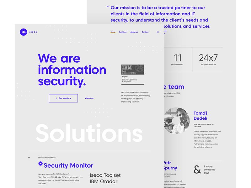 Iseco Microsite Web Design Examples Web Design Brochure