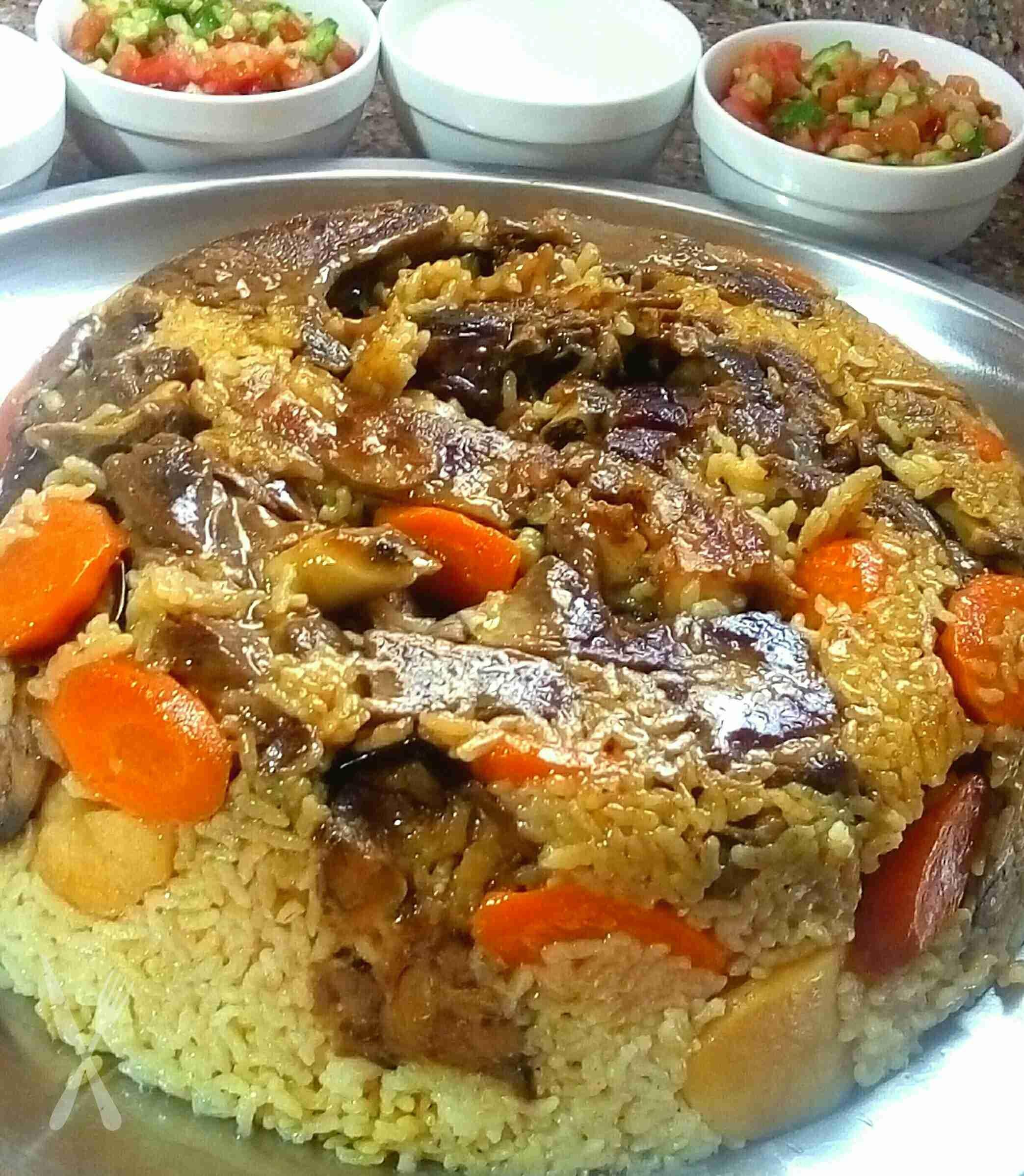 مقلوبة اللحمة زاكي Palestinian Food Jordanian Food Aesthetic Food