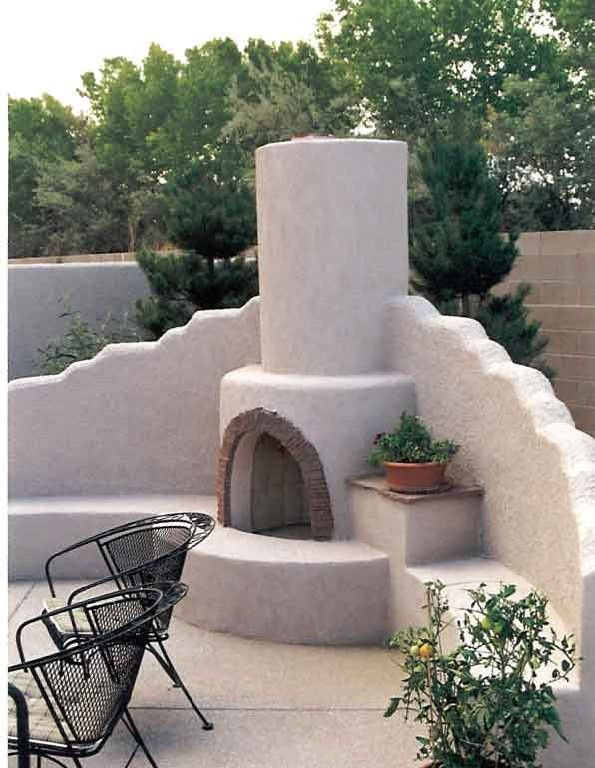 Kiva Fireplace Pictures Often A Problem With An Outdoor Fireplace Is That They Tend To Collect