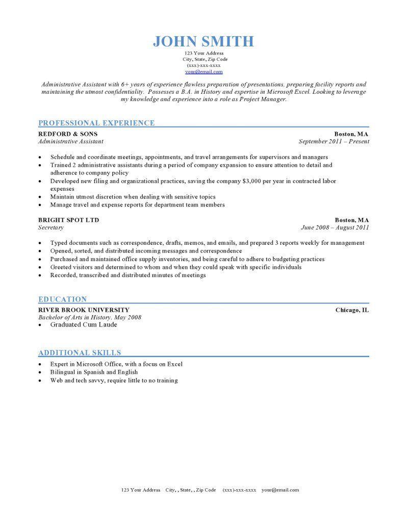 Basic and Simple Resume Templates Free professional
