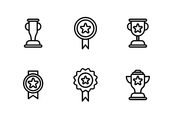 Award And Trophy Icons By Goodware Std Trophy Elementary Art Icon
