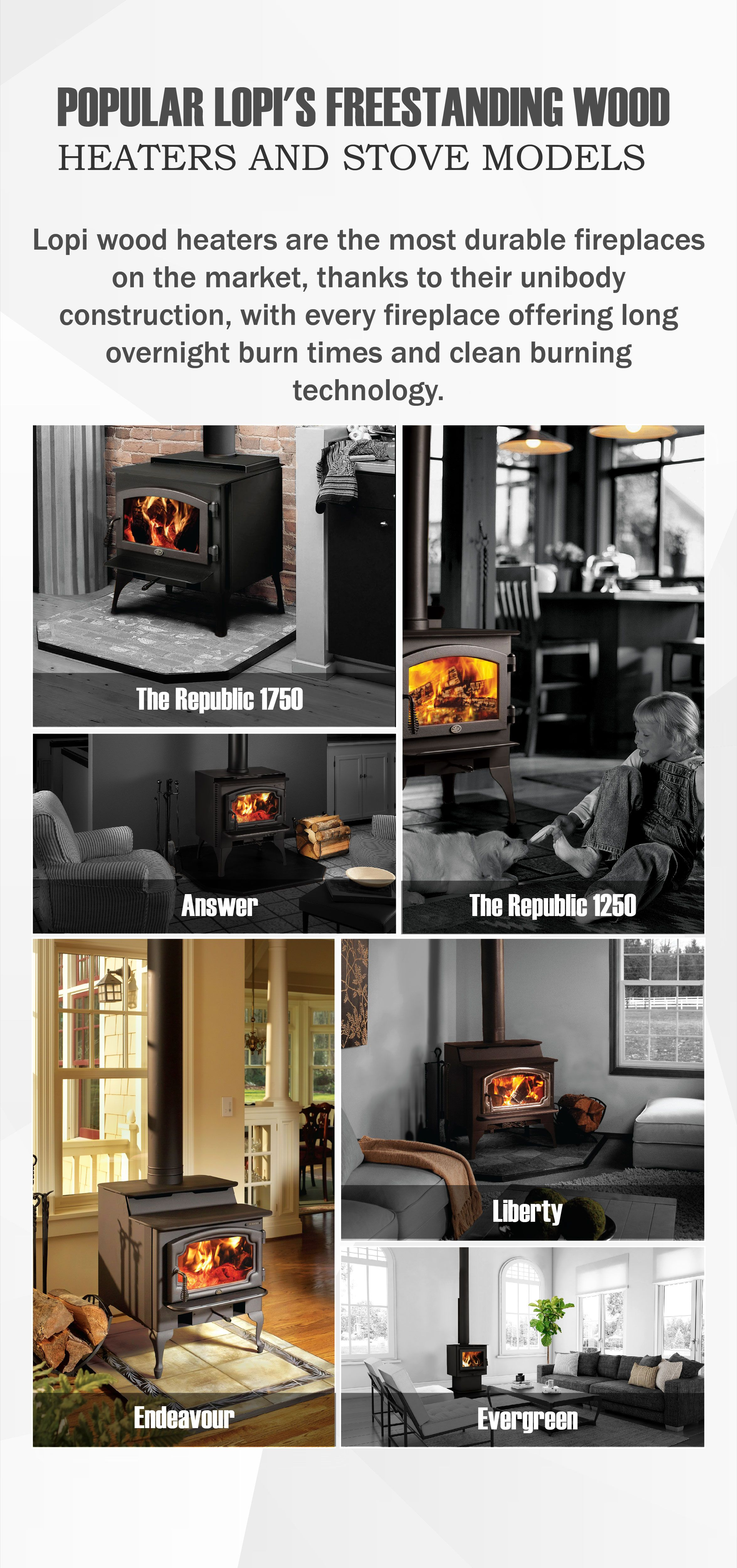 The Lopi Wood Heaters Are The Best And Durable Fireplaces On The