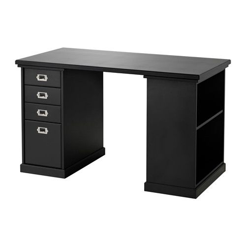 klimpen table noir noir 120x60 cm bureau pinterest caisson mathieu et bureau. Black Bedroom Furniture Sets. Home Design Ideas