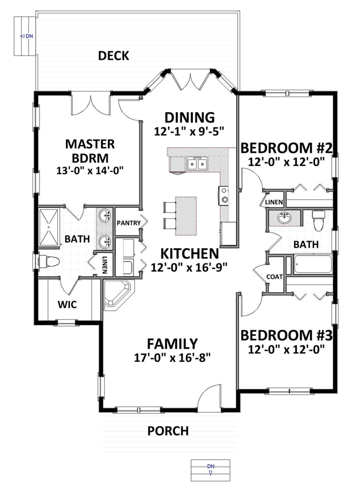 House Plan 6849 00051 Cottage Plan 1 490 Square Feet 3 Bedrooms 2 Bathrooms In 2020 Cottage Plan House Plans Two Story House Plans