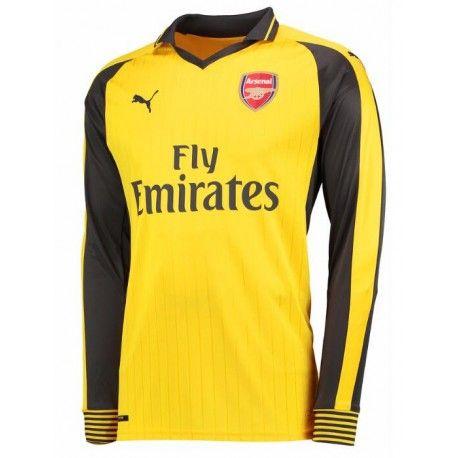 Camiseta Nueva del Arsenal Away 2017 Manga Larga - Camisetas de Futbol  Baratas