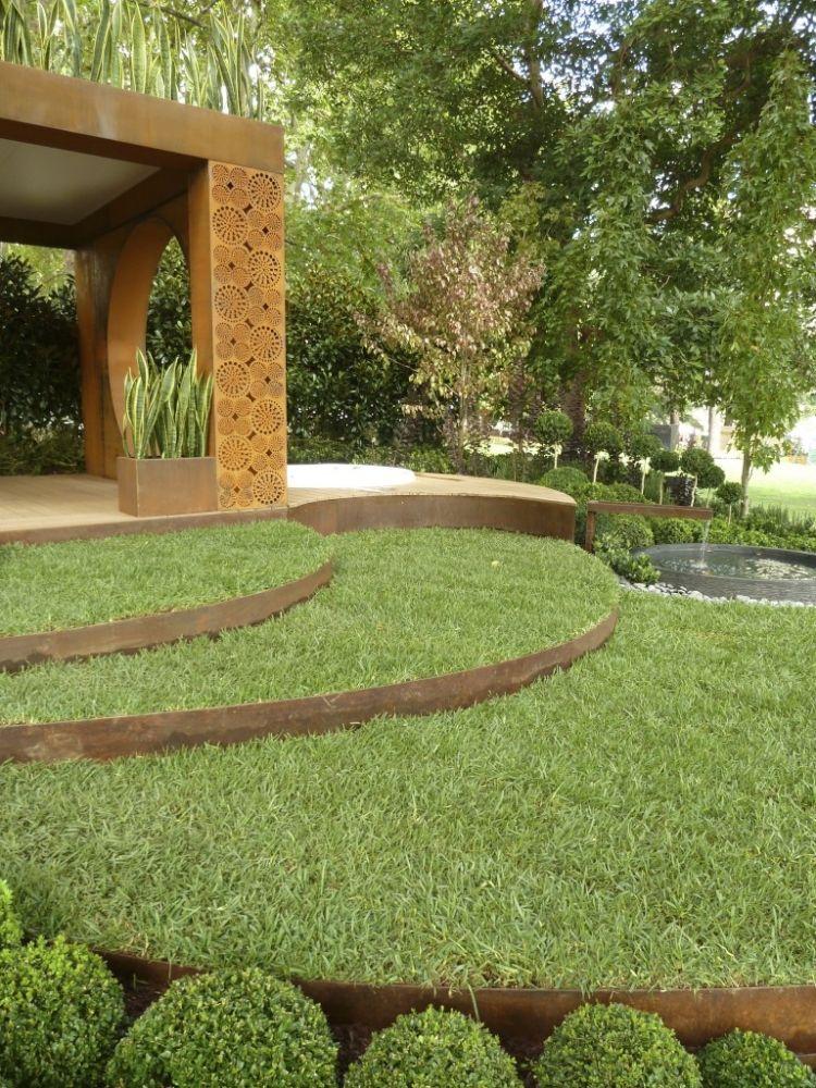 Cortenstahl Garten berm detail berms detail gardens and landscaping