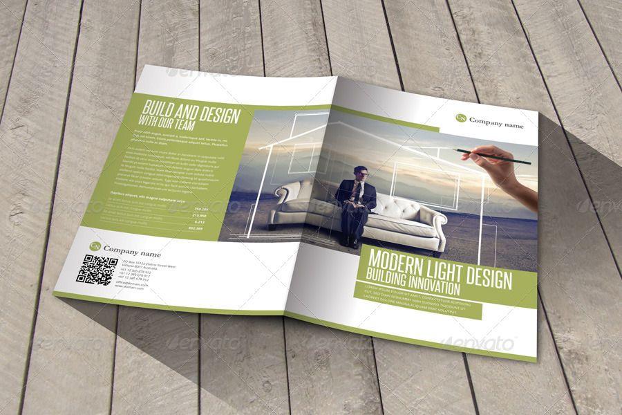 Modern & Light Design Indesign Template Brochure #Ad #Light, #affiliate, #amp, #Modern, #Design