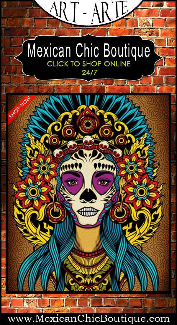 Mexican Paintings Mexican Decorations Tattoo Art Print