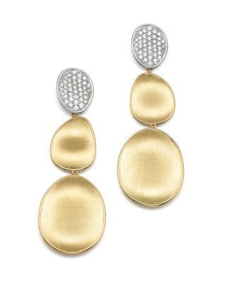 Marco Bicego 18k Lunaria Elevated Earrings w/ Diamonds Ng6PLfRtlS