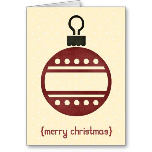 Christmas Ornament 2 Modern Elegant Christmas Card Elegant
