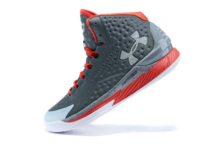 Free Shipping Only 69$ UA Steph Curry One 1 Black Dark Grey Red Gym Red