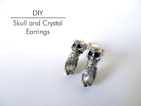 Thanks, I Made It : DIY Skull and Crystal Earrings