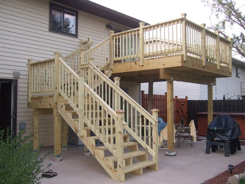 Deck Stairs With Landing Schody Pinterest Deck Stairs Decking And Back