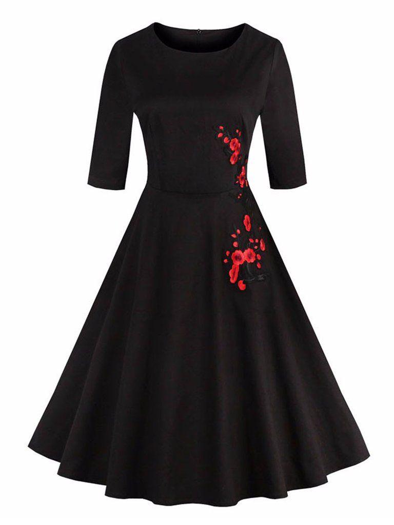 S plum blossom embroidery dress vintage style pinterest