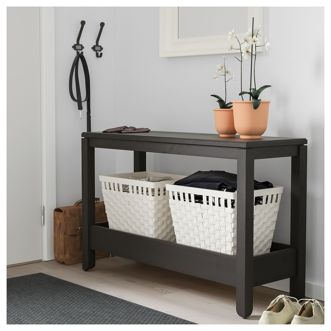 Havsta Console Table Dark Brown Ikea Ablagetisch Brown Console Dark Havsta Ikea Table In 2020 Ablagetisch Ikea Kleinmobel