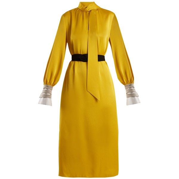 Neon yellow dress tie