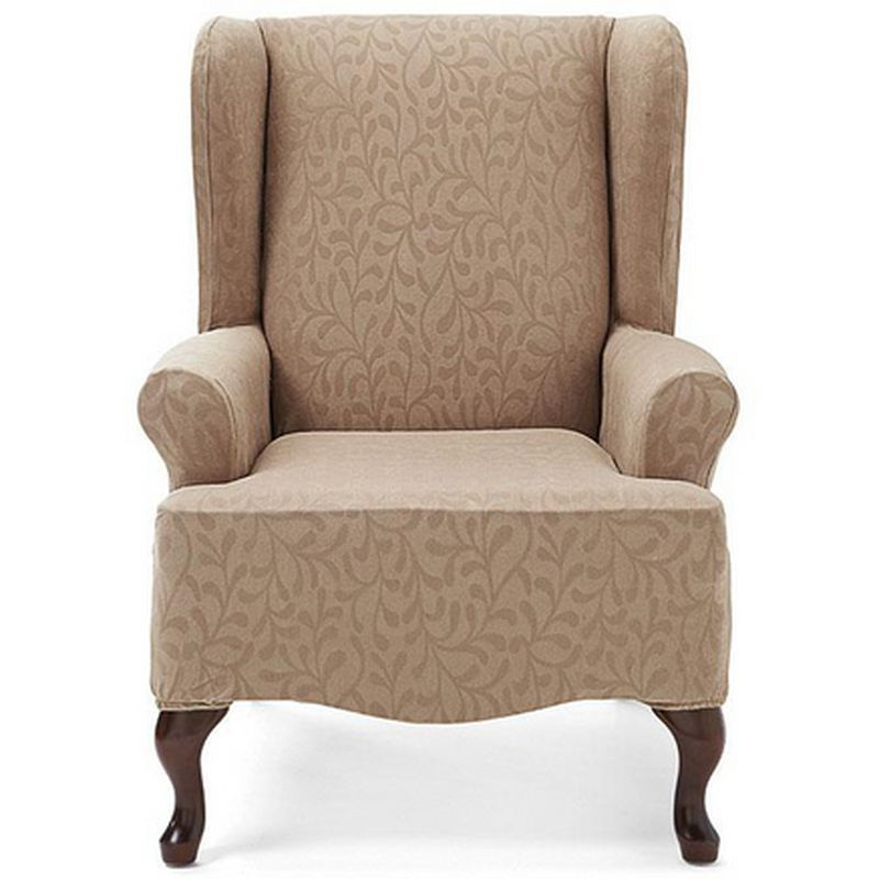 Astonishing Surefit Tm Fresca 1 Piece Wing Chair Slipcover Sears Dailytribune Chair Design For Home Dailytribuneorg