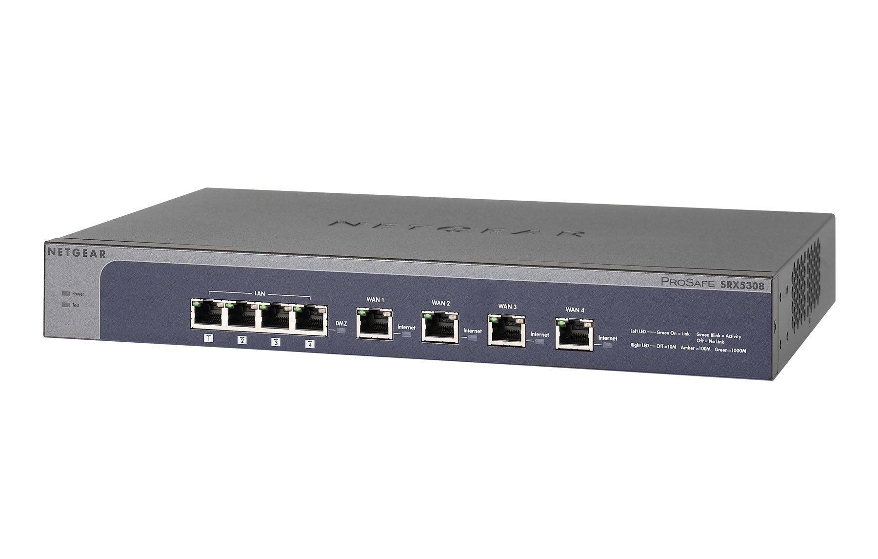 Netgear SRX5308 ProSafe Quad WAN SSL Gigabit VPN: Amazon de