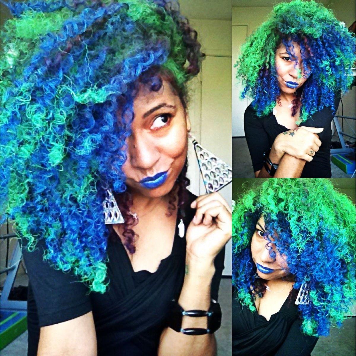 Rock On Blue Jaguar Green Hair Styles Bold Hair Color