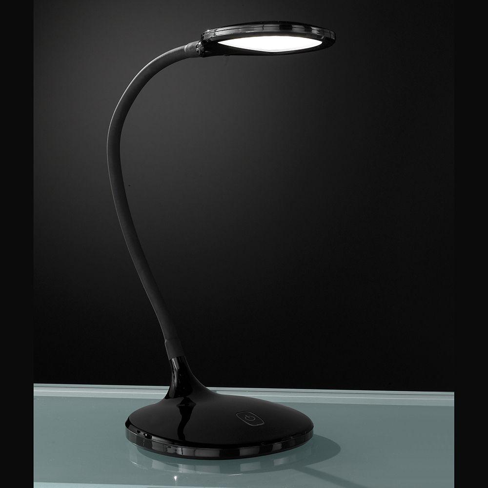 Dimmbare Schwarze Led Tischleuchte Mit Flexhals Im Modernen Design Led Tischleuchte Led Led Lampe