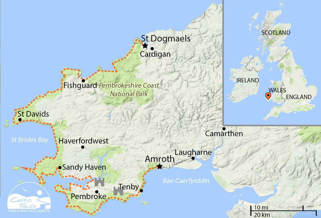 Pembrokeshire Coast Path Map Pembrokeshire Coast Path walk map | cardigan bay | Pembrokeshire  Pembrokeshire Coast Path Map