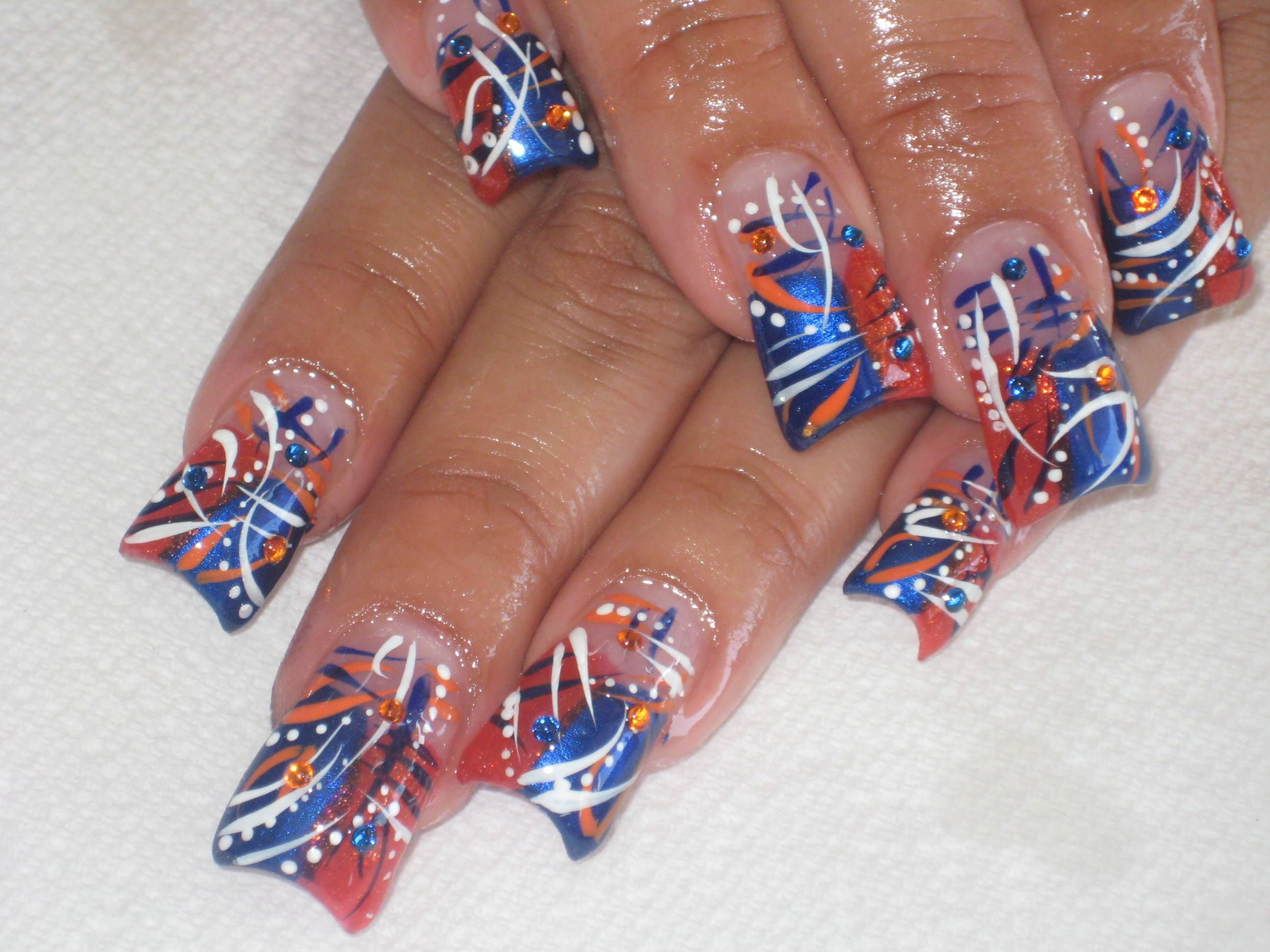 Ideas For Nail Designs 45 Inspirational Blue Nail Art Designs And