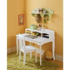 Kidkraft 26705 Kids Children S White Wood Avalon Desk Hutch Table Chair New