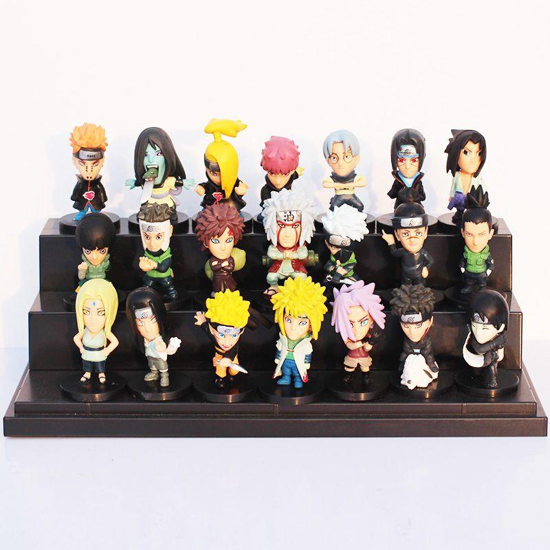 21pcs Set Naruto Pvc Action Figure Toys Action Figures Action