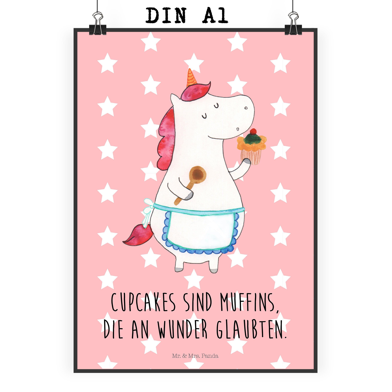Poster DIN A1 Einhorn Küchenfee aus Papier 160 Gramm  weiß - Das Original von Mr. & Mrs. Panda.  Jedes wunderschöne Motiv auf unseren Postern aus dem Hause Mr. & Mrs. Panda wird mit viel Liebe von Mrs. Panda handgezeichnet und entworfen.  Unsere Poster werden mit sehr hochwertigen Tinten gedruckt und sind 40 Jahre UV-Lichtbeständig und auch für Kinderzimmer absolut unbedenklich. Dein Poster wird sicher verpackt per Post geliefert.    Über unser Motiv Einhorn Küchenfee  Ein Einhorn Edition…
