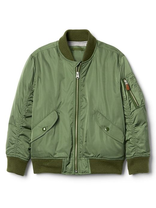 10b22cfa9 Gap Boys Bomber Jacket In Twill Monterey Cypress