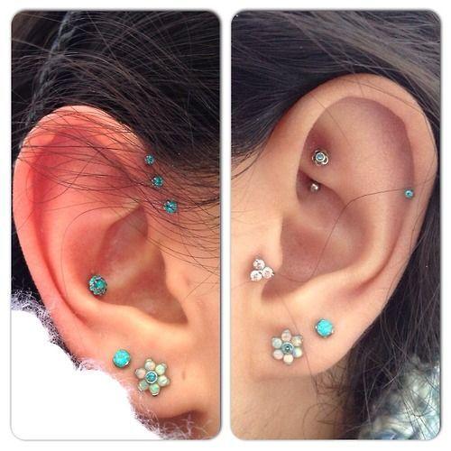 6da38f0bc #industrial #scaffolding #piercing #barbell #ear #cartilage #straight #upper  #outer #wickedbodyjewelz #lobe