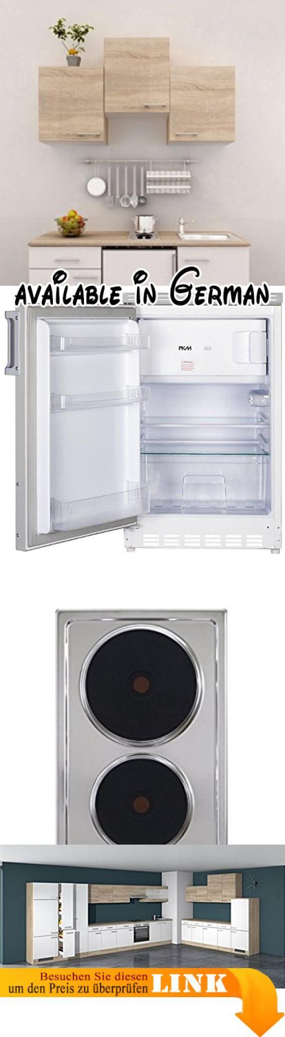 B01C50R0T6 : Singleküche 150 cm breit Weiß Sonoma Eiche mit Geräten ...