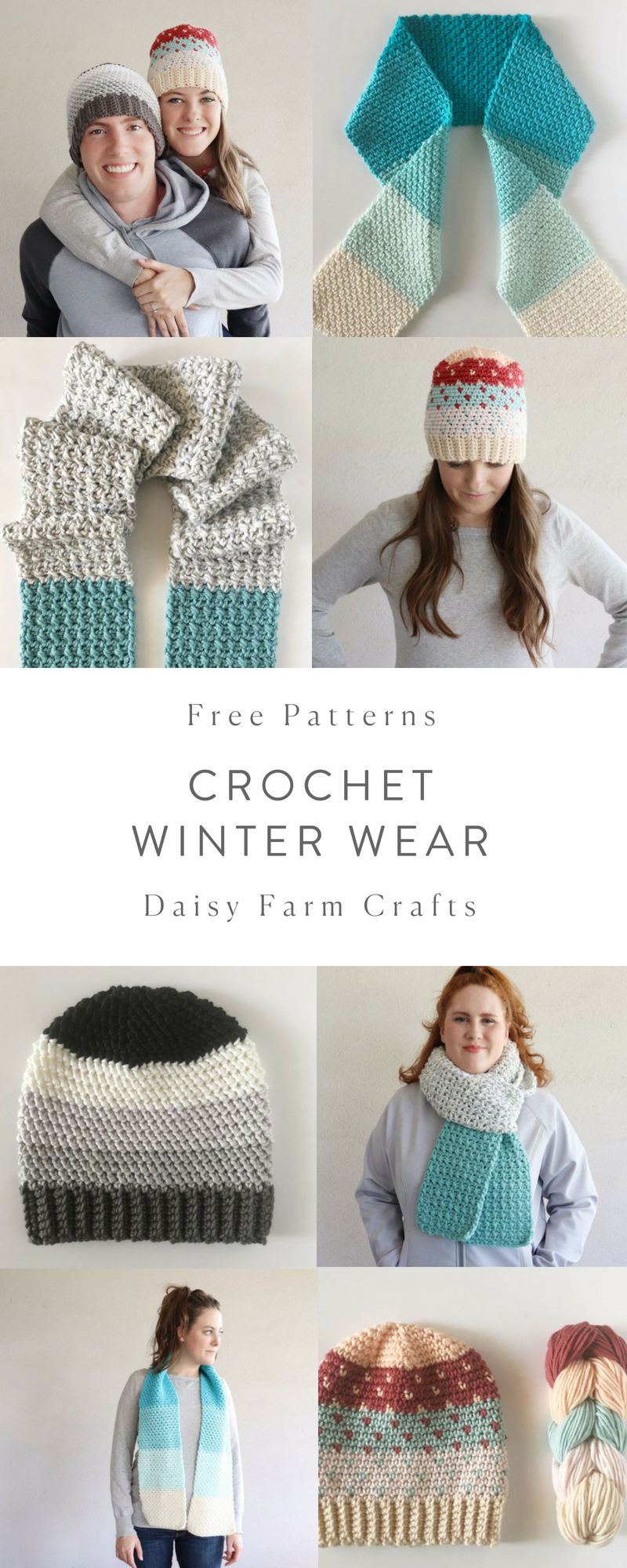 Free Patterns - Crochet Winter Wear - Daisy Farm Crafts | Daisy Farm ...