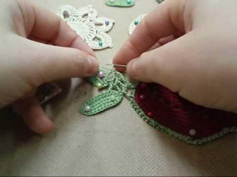 Сетке вязание видео ирландское кружево