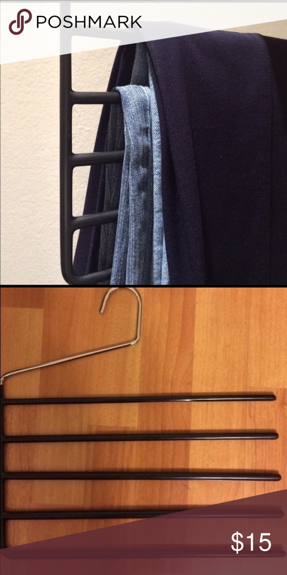 5 row pant hanger. Your closet will look more neat and organized. - Other