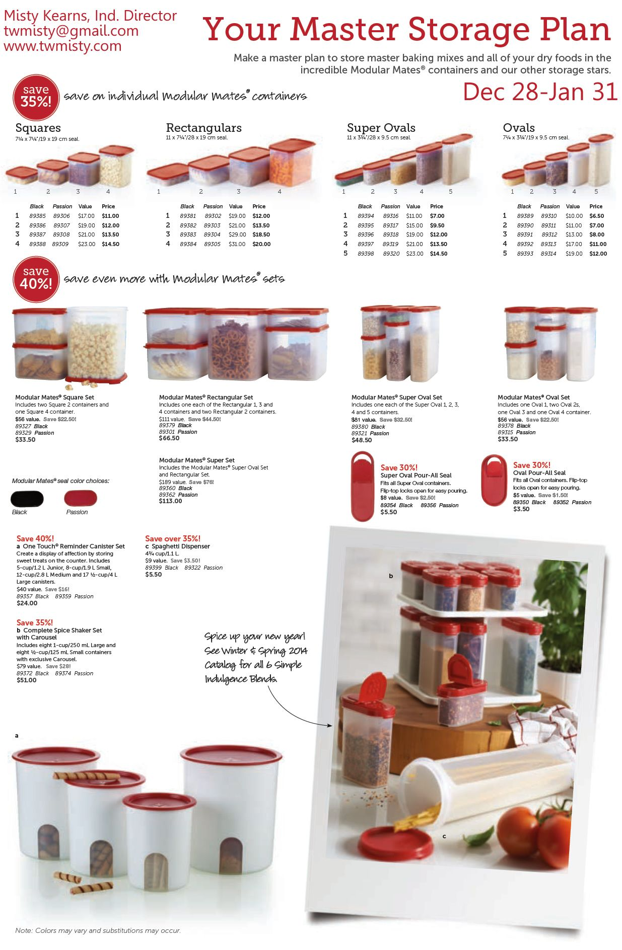 It's our Annual Modular Mates Sale! Get your pantry organized and save tons of time, taste, waste, money & space from here on out. I offer Custom Kitchen Planning Sessions too! Contact me for more info or to order and ask about my special offers! http://my2.tupperware.com/dbrake76 #Tupperware #Kitchen #KitchenOrganization #Organization