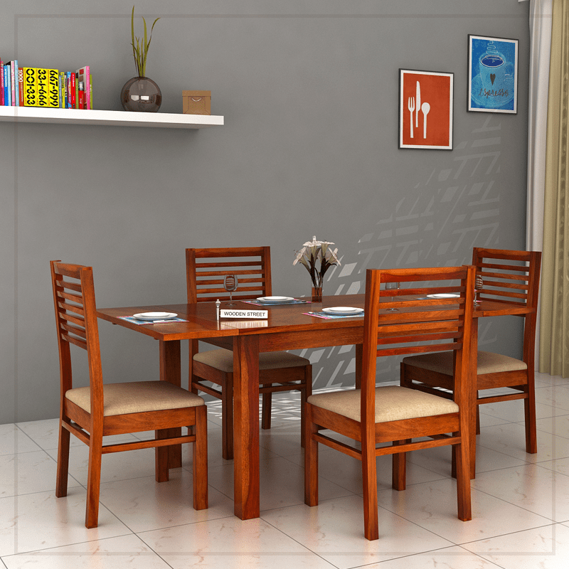 4 seater extendable dining table set 4 the florin seater extendable dining set is an exquisite and profitable piece of dining table with chairs honey finish
