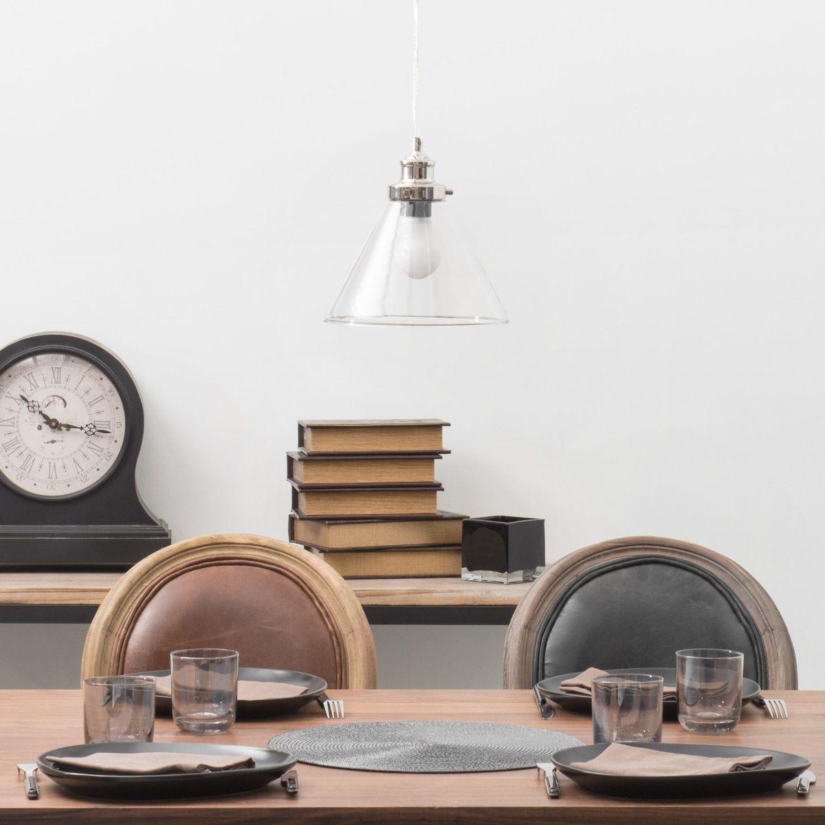 suspension en verre d 23 cm brocanteur maisons du monde. Black Bedroom Furniture Sets. Home Design Ideas