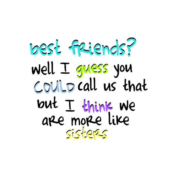 Text Quotes About Friendship: Bff Quote Liked On Polyvore Featuring Quotes, Words, Text