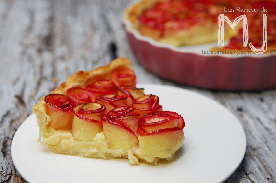 Tarta De Manzana Con Crema Pastelera Videoreceta Tarta De Manzana Tartas Pastelera