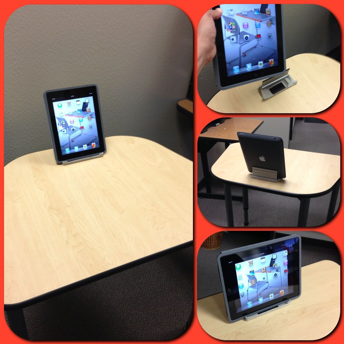 A Student Desk With Inset Tablet Grommet From Paragon Furniture