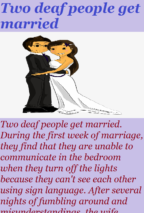 Two Deaf People Get Married Funny Story Fadota People Getting Married Getting Married Funny Deaf People