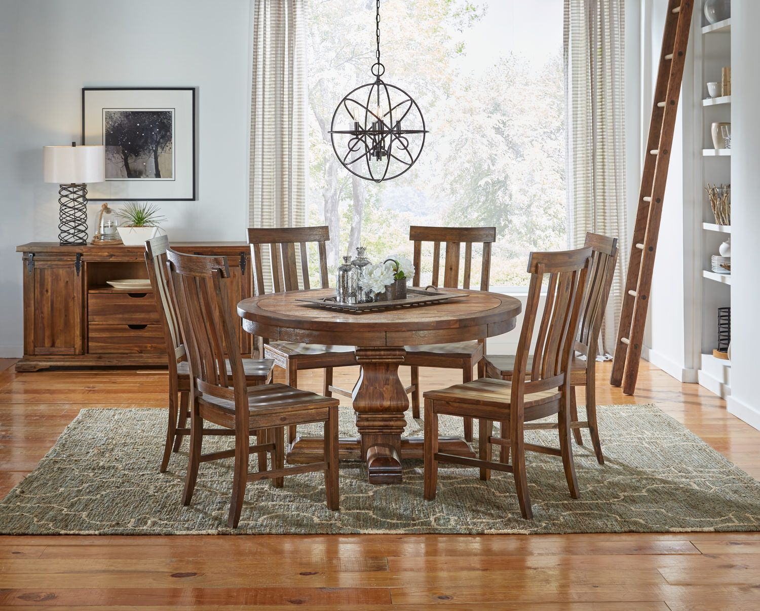 Dawson 54 Round Table and 4 dining chairs | 4 dining ...
